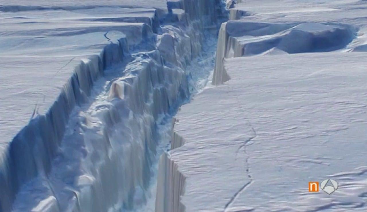 La NASA capta la imagen de una grieta en la Antártida que liberará un iceberg de 6.500 km cuadrados