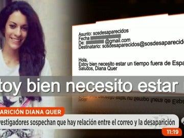 Las novedades sobre el misterioso mensaje firmado por Diana Quer