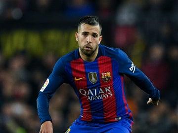 Jordi Alba, en un partido