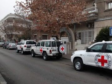 Vehículos del Comité Internacional de la Cruz Roja