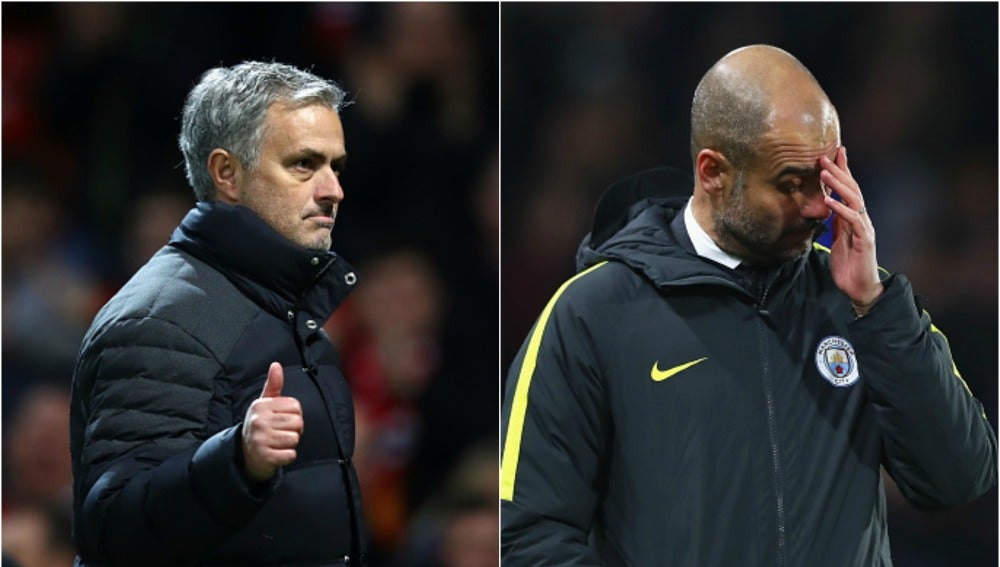 Mourinho y Pep Guardiola