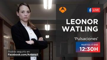 El próximo martes, Leonor Watling responderá las preguntas de los fans de 'Pulsaciones' a través de Facebook Live
