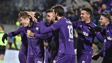 La Fiorentina celebrando un gol
