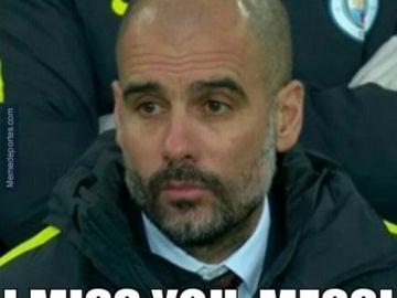 Guardiola echa de menos a Messi