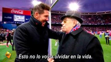 Así vivieron los socios más antiguos del Atlético de Madrid su partido de fútbol más especial