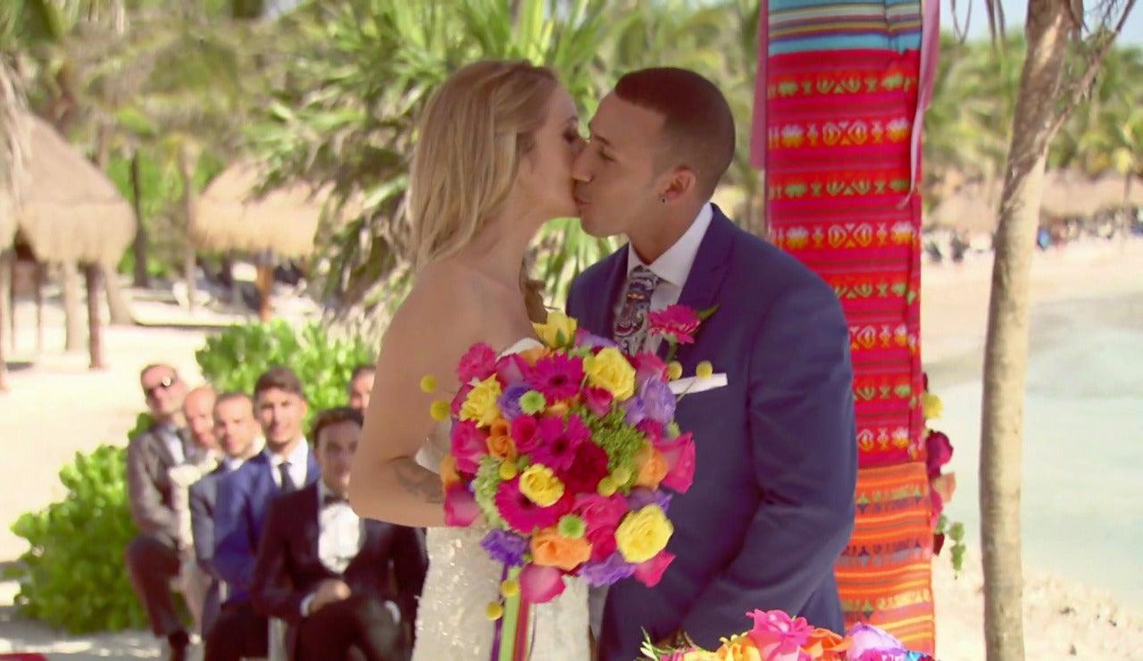 Mónica y Jordi se dan el 'sí, quiero' temblando de felicidad y nervios