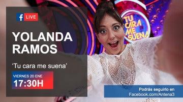 El viernes, lloramos de la risa en directo con Yolanda Ramos en Facebook Live