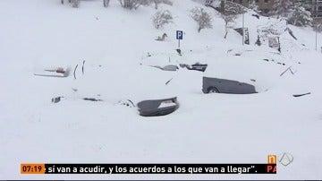 Frame 76.975555 de: La cota de nieve baja tanto en España que podría verse Baleares cubierto de blanco