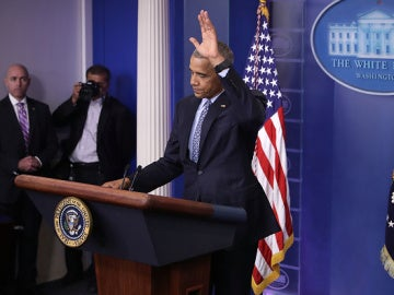 Barack Obama durante su última rueda de prensa
