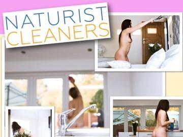 Cartel promocional de las limpiadoras desnudas de Natural Cleaners