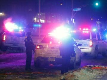 Exteriores de la mezquita atacada en Quebec