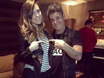 Lorena Gómez y Alejandro Sanz