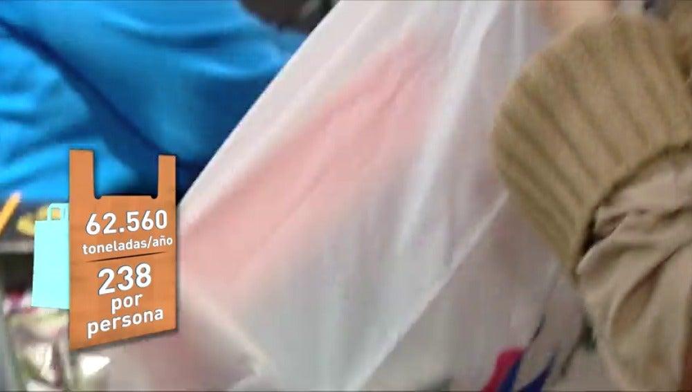 Frame 49.493333 de: Una directiva obligará a cobrar por las bolsas de plástico en todas las tiendas a partir de 2018