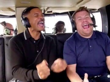 Frame 114.614145 de: Will Smith rapea 'El Príncipe de Bel-Air' con James Corden en el 'Carpool Karaoke'