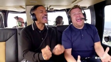 Frame 114.614145 de: Will Smith rapea 'El Príncipe de Bel-Air' con James Corden en el 'Carpool Karaoke'
