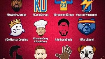 Los 'emojis' del All Star de la NBA