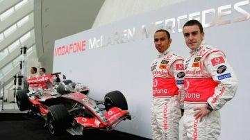 Hamilton y Alonso, en McLaren