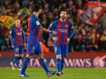 Messi y Luis Suárez, sin respuestas en el Camp Nou