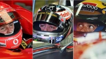 Montaje Alonso, Schumacher y Senna
