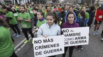 Participantes en la manifestación de Madrid