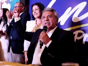 El candidato presidencial oficialista Lenín Moreno