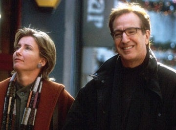 Alan Rickman y Emma Thompson en 'Love Actually'