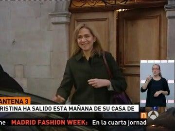 La Infanta Cristina abandona su casa de Ginebra