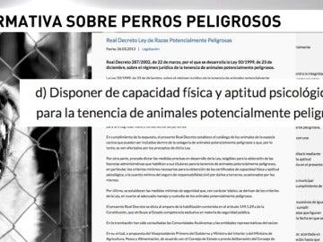 Frame 40.8 de: Existen ocho razas de perro consideradas peligrosas en España