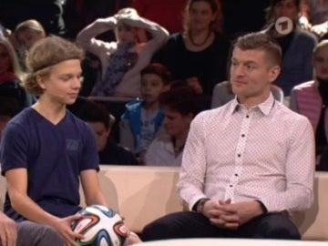 Toni Kroos, en un programa de televisión alemán