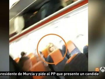 La infanta Cristina viajando a Barcelona desde Ginebra