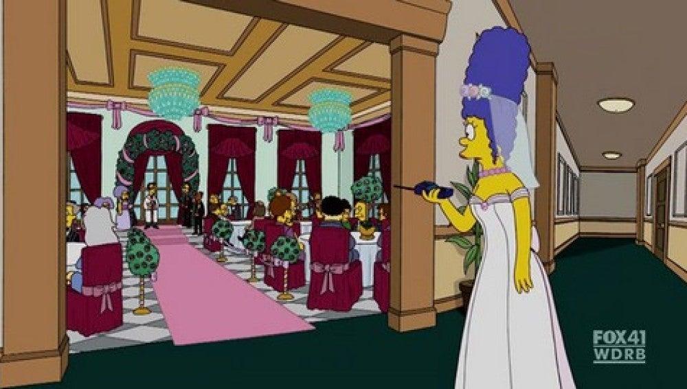 Homer le vuelve a pedir matrimonio a Marge
