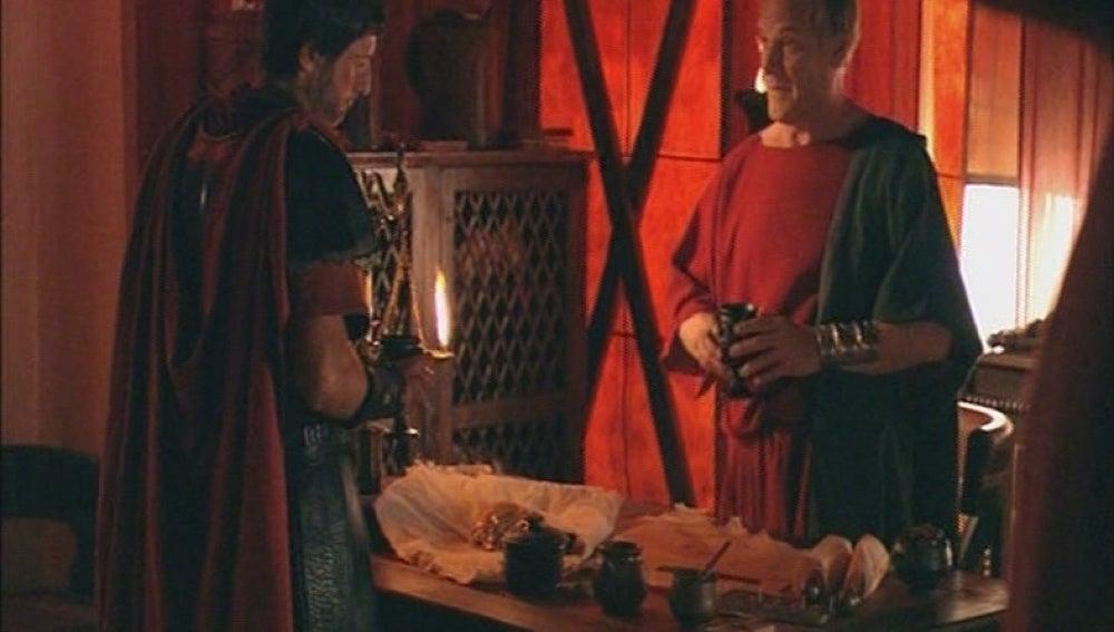 Galba y Marco celebran la derrota de los hispanos