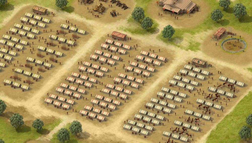 Boceto campamento romano