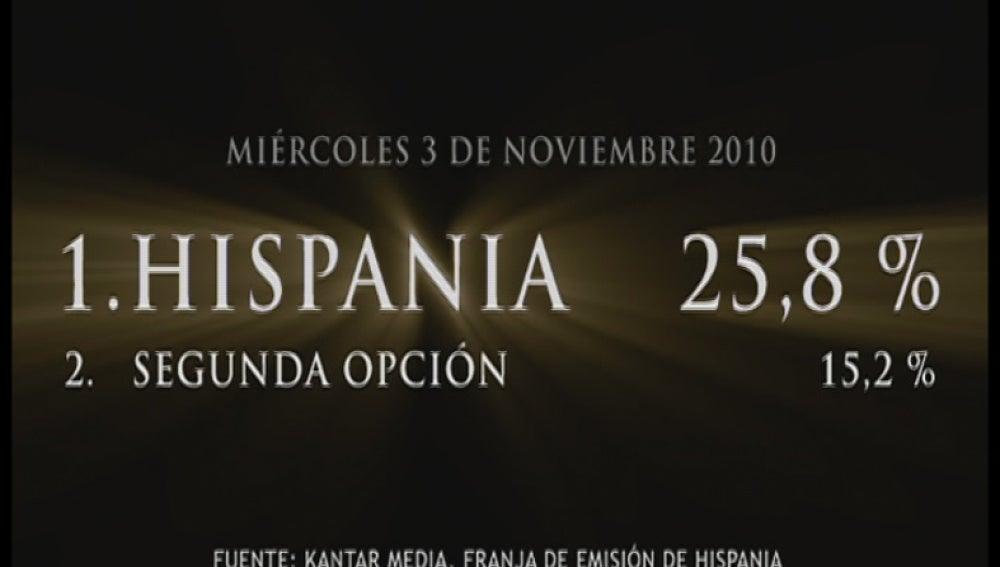 Promo Hispania éxito de audiencia 05-11