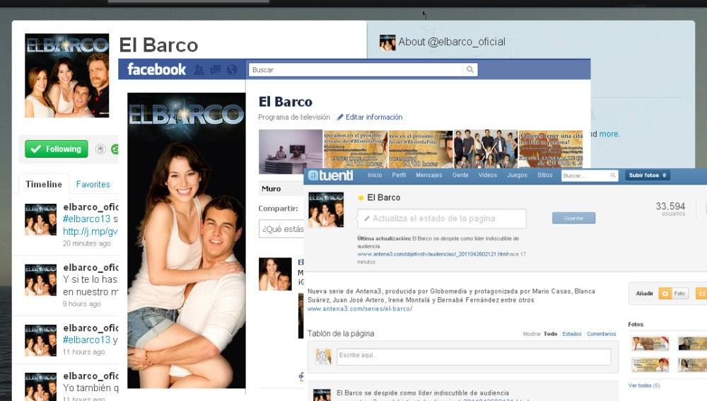 El Barco en redes sociales