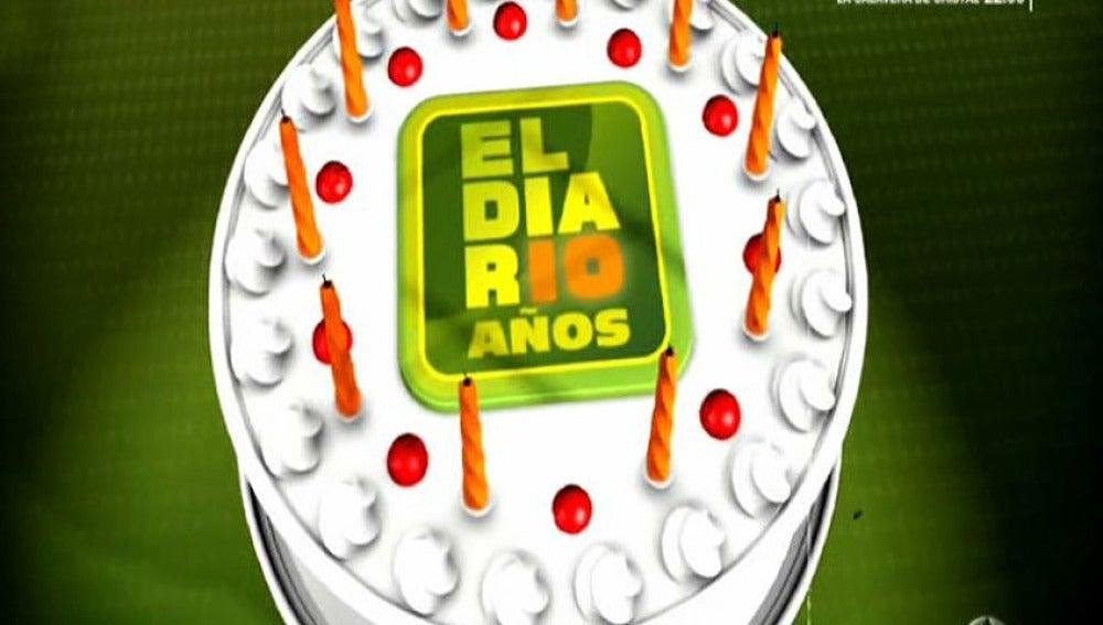 Tarta décimo aniversario de El Diario
