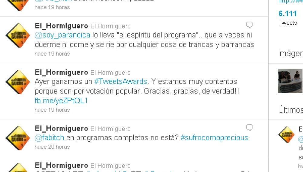 Ganadores de un Tweets Awards