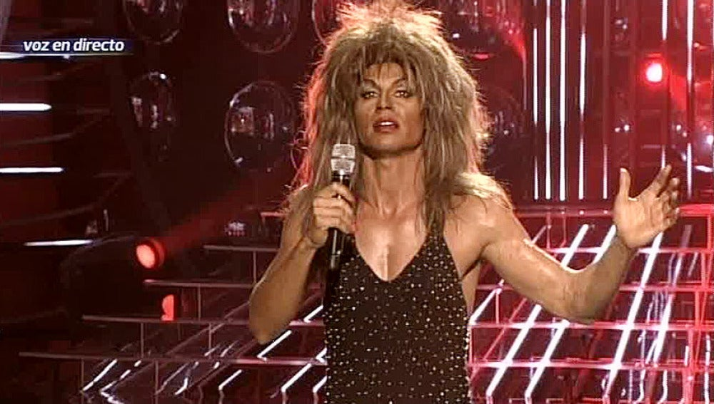 Gala 2   Julio iglesias Jr. imita a Tina Turner