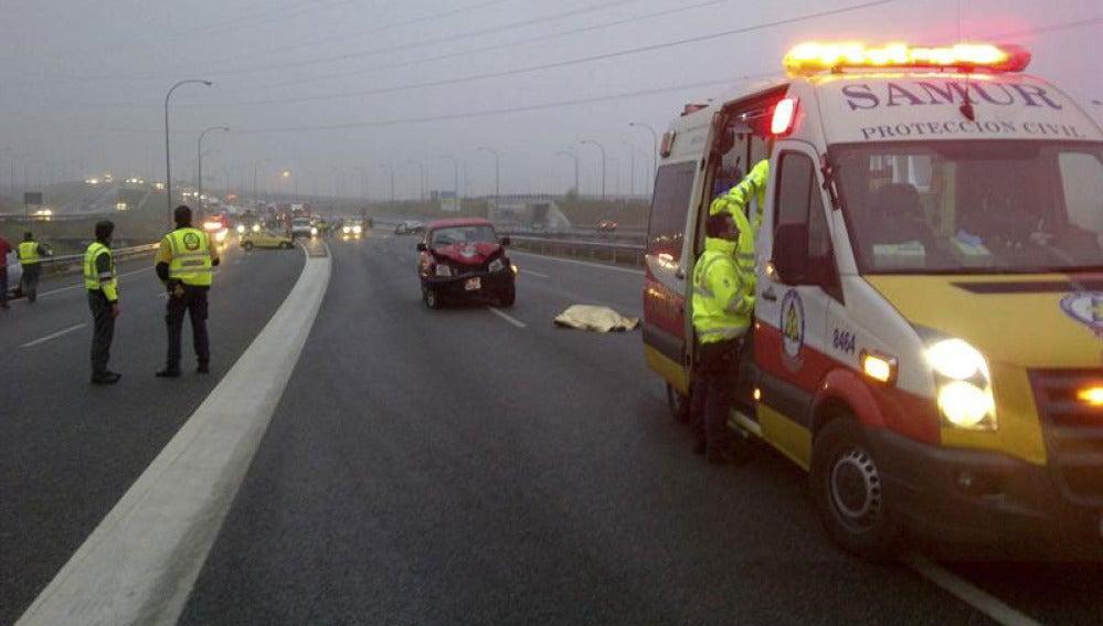 Muere atropellado un taxista que circulaba en sentido contrario