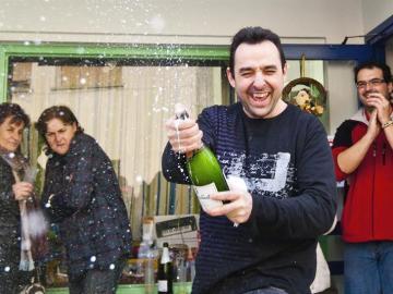 Descorchando el champán