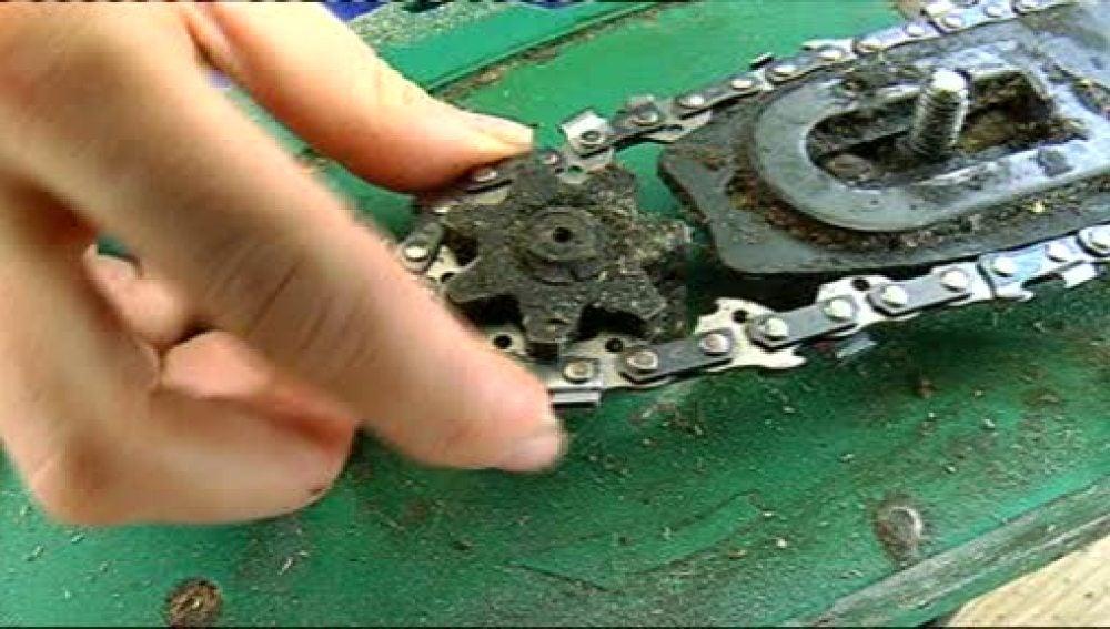 Aprende cómo cambiar la cadena de motosierra