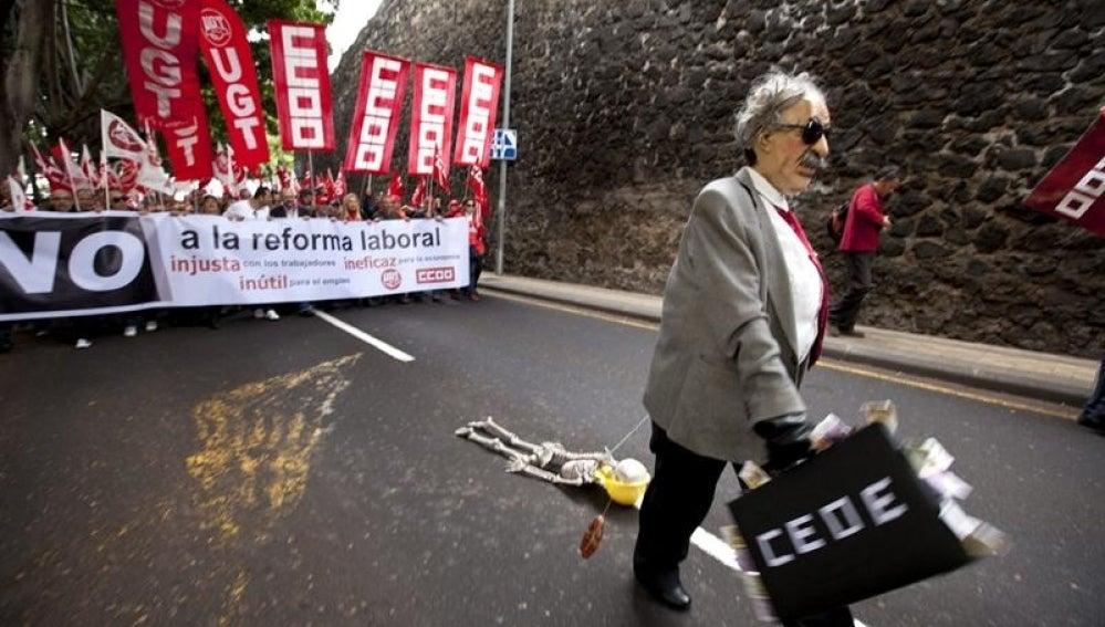 Manifestación en Las Palmas