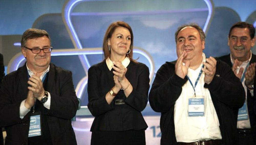 María Dolores de Cospedal, en su reeleción como presidenta del PP manchego