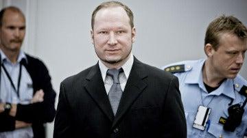 Anders Behring Breivik durante el juicio