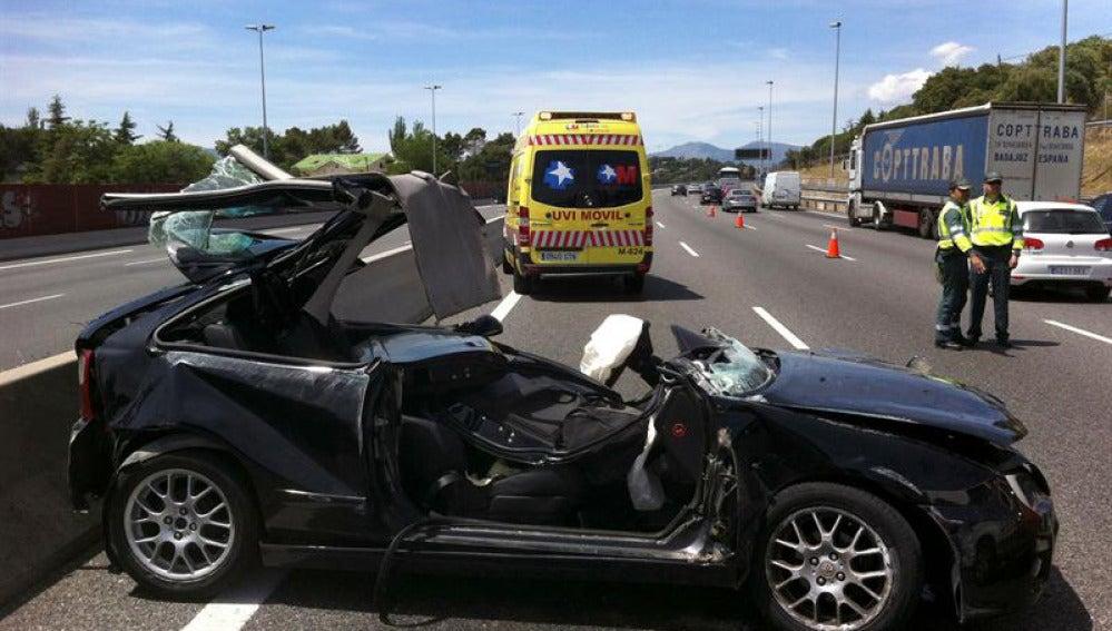 Imagen de un accidente de tráfico en Madrid