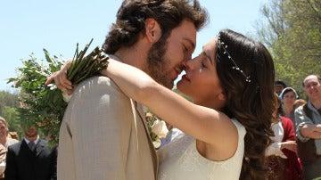 Tristán y Pepa, recién casados