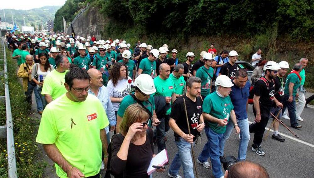 Imagen de la marcha de la minería desde Asturias