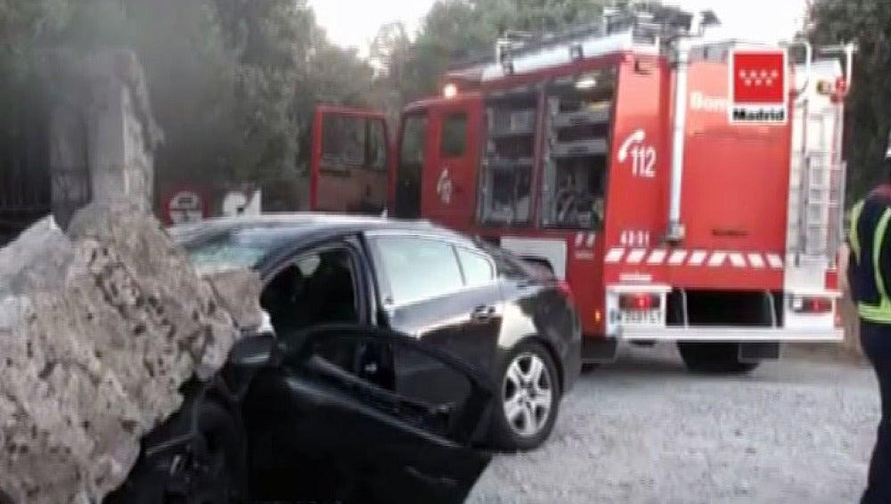 Accidente en la carretera M-600 en Valdemorillo
