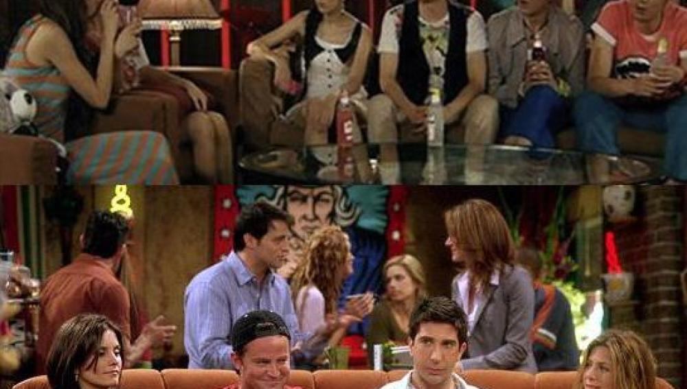 Una escena de las series  'Ipartment' y de 'Friends'