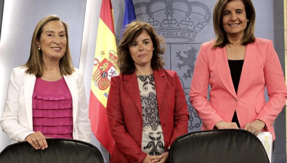 Fatima Báñez, Ana Pastor y Sáenz de Santamaría